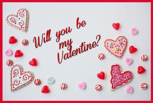 valentine's day border decoration