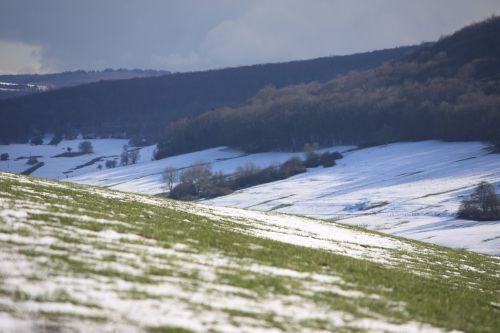 valley winter landscape