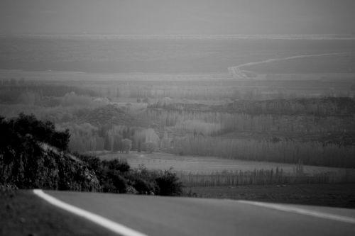 valley landscape distant
