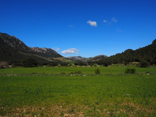 valley of orient landscape mallorca