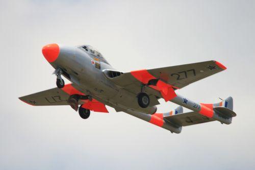 Vampire Jet Flying