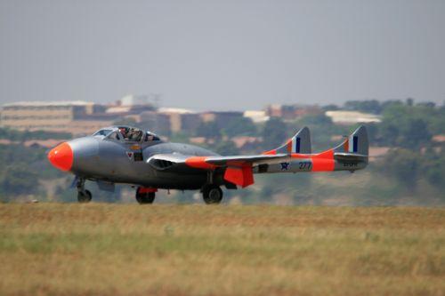 Vampire Jet On Touchdown