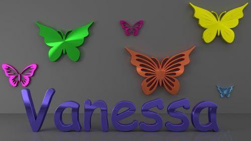 vanessa colorful butterflies