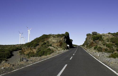 vanishing point  road  landscape