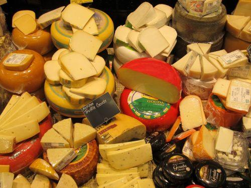 Variety Of Gourmet Cheeses