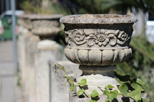 vase planter stone