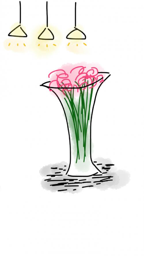 vase flowers light