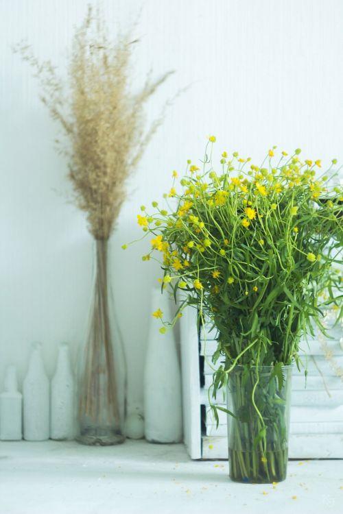 vase summer yellow