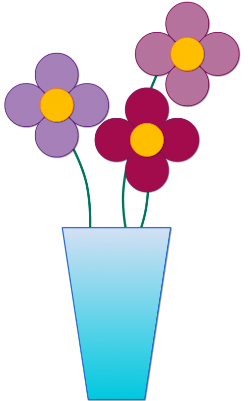 vase flowers arrangement
