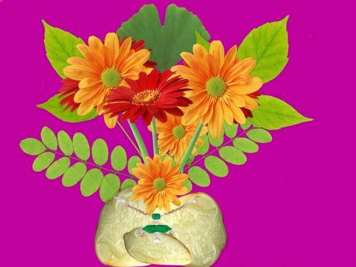 vazos,išdėstymas,gėlės
