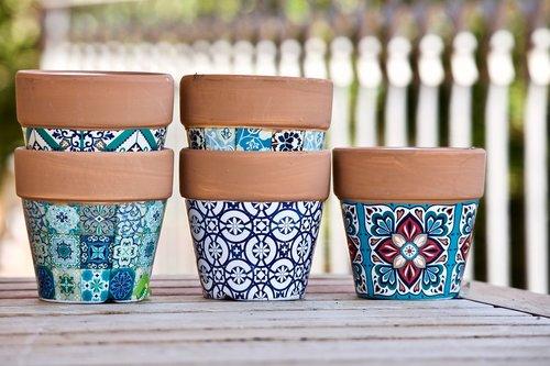 vases  terracotta pots  gardening