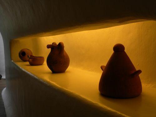 vases clay shelving art
