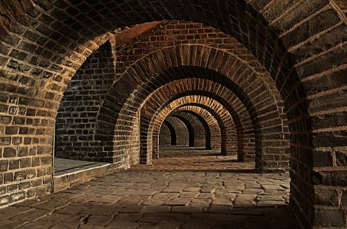 vaulted cellar tunnel arches