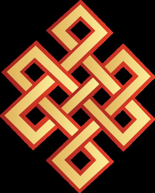 vector auspicious symbol mongolia