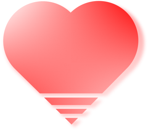 vector red love