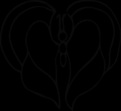 vector heart butterfly