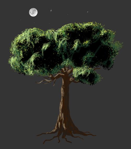 vector art realistic tree