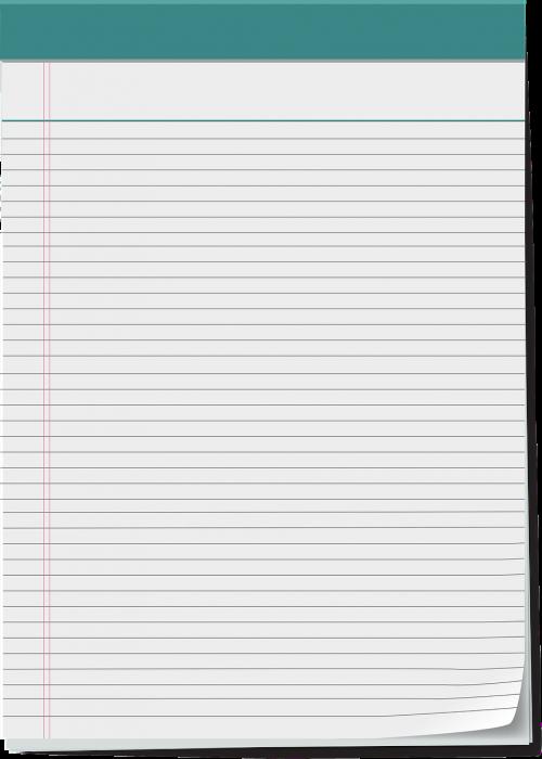 vector notepad notepad 5x8 notepad