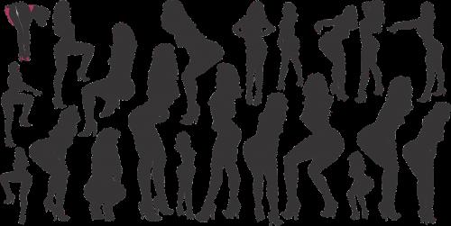 vektoriniai siluetai,seksualus siluetai,seksualus,mergaičių iliustracijos,siluetai,nemokama vektorinė grafika