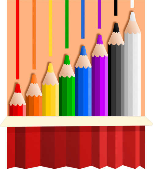 vectors color pencil color