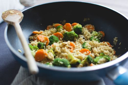 vegetable stir-fry dinner