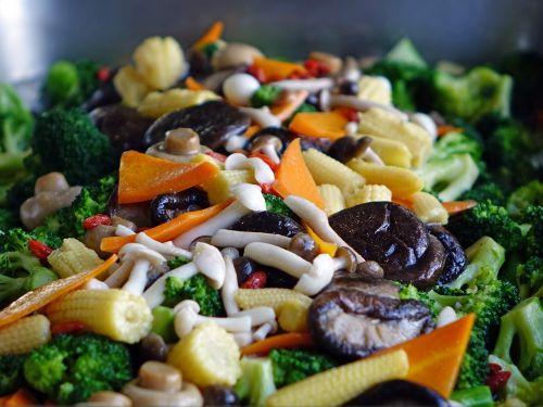 vegetable corn mushroom