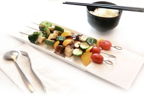 vegetable grilled vegetable skewers teppanyaki