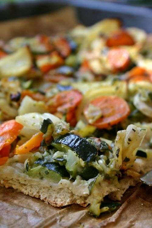 vegetable pizza pizza eat