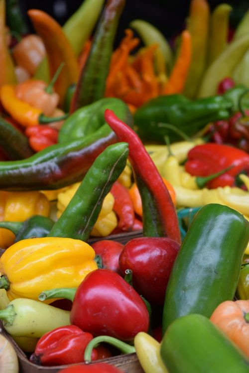 vegetables veggies peppers
