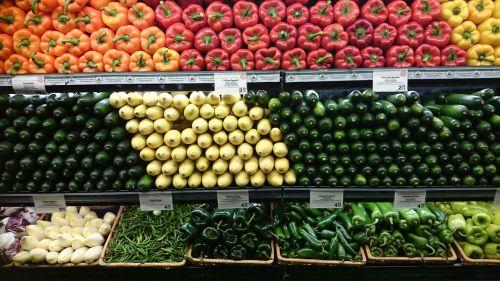 vegetables shelf food