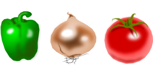vegetables tomato onion