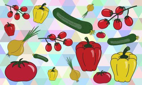 vegetables cucumber tomato