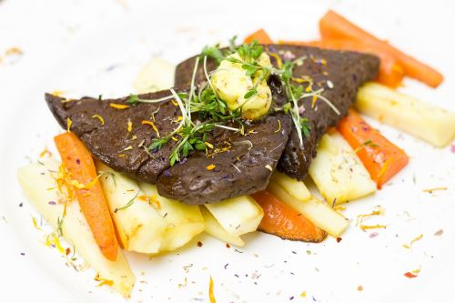 vegetables seitan schnitzel