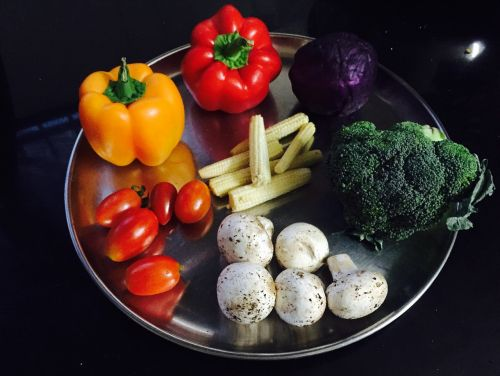 vegetables colors food