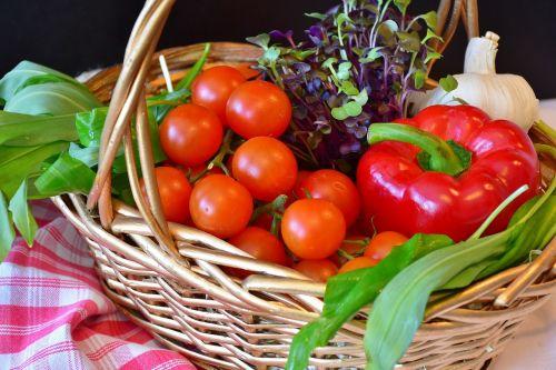 vegetables basket purchasing