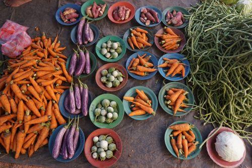 vegetables carrots aubergine
