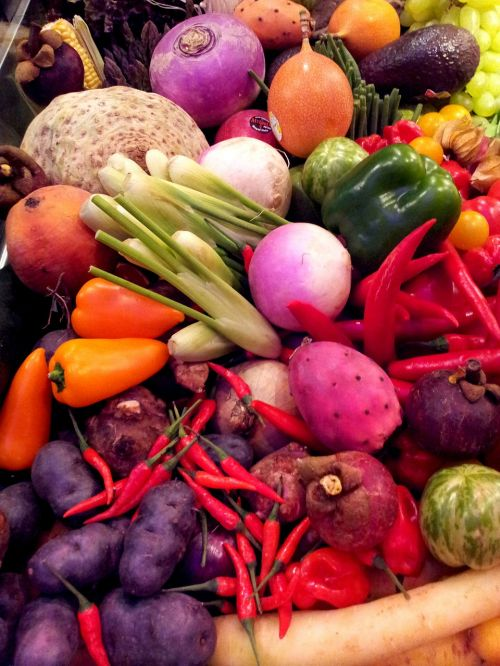 vegetables types colors