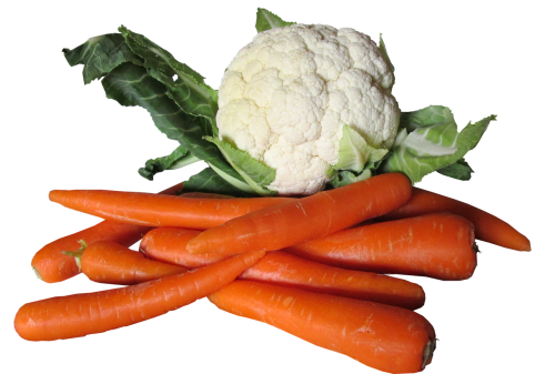 vegetables cauliflower carrots