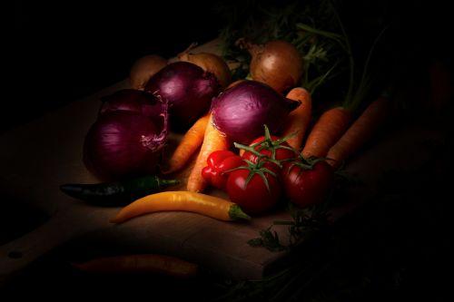 vegetables dark mood food photography