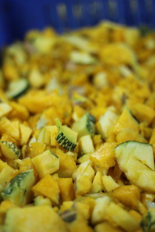 vegetables chopped pumpkin