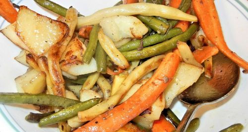 vegetables roasted green beans