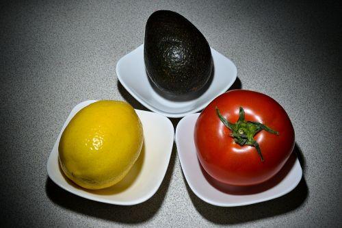vegetables lemon tomato