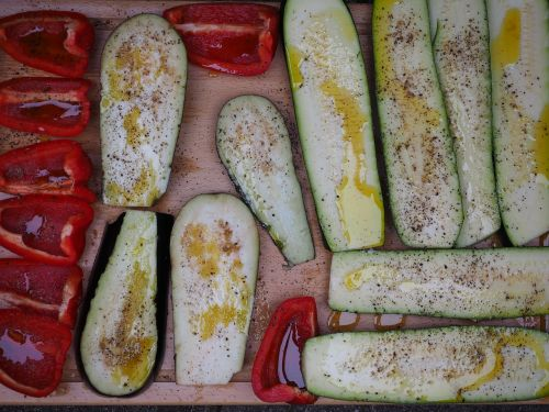vegetables grilled vegetables zucchini