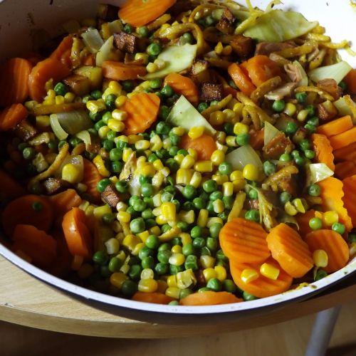 vegetables pan food