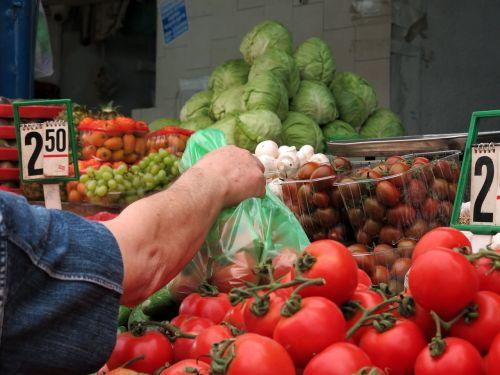 vegetables market tomatoes