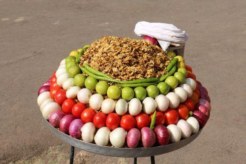 vegetables vendor street food