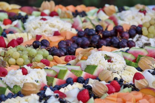 vegetables plate arranged