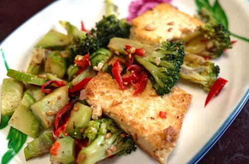 vegetarian korean food tofu