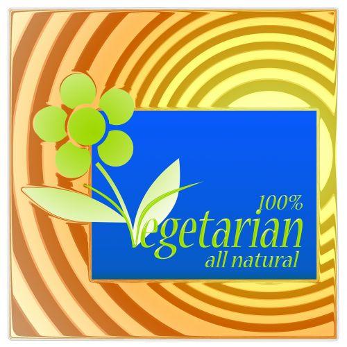 vegetarian nutrition sticker