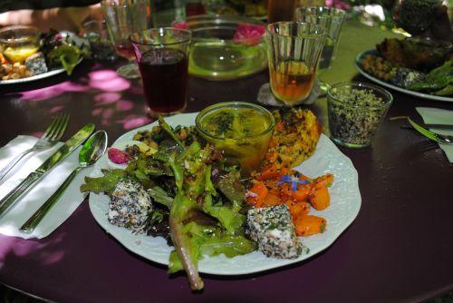 vegetarian meal vegetarian gourmet meal garden of the sambucs